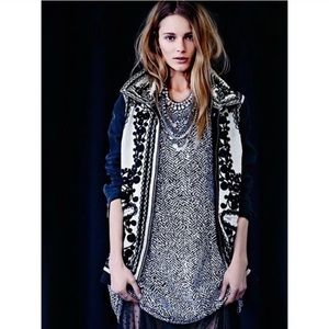 Free People Stitched Quills Embroidered Jacket XS